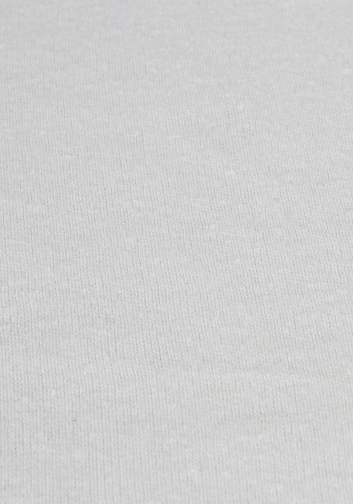 Fitted Sheet Double Jersey Interlock Topper White 17 cm Corner Drop
