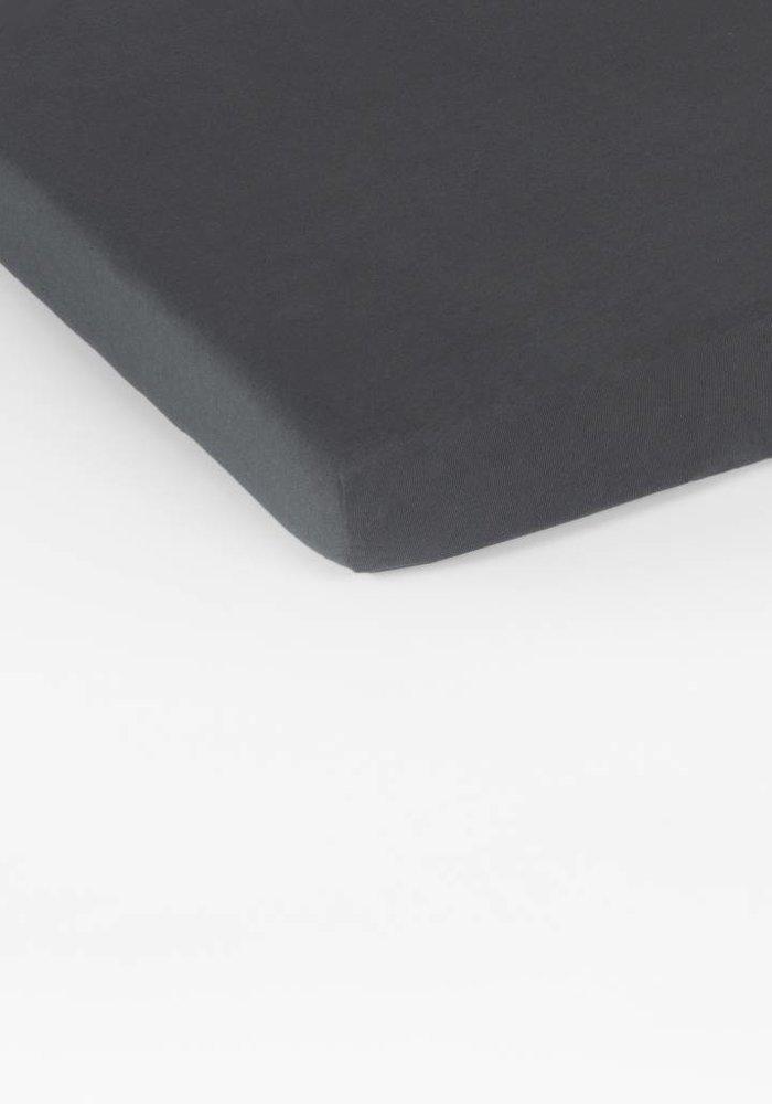 Fitted Sheet Double Jersey Interlock Topper D Grey 17 cm Corner Drop