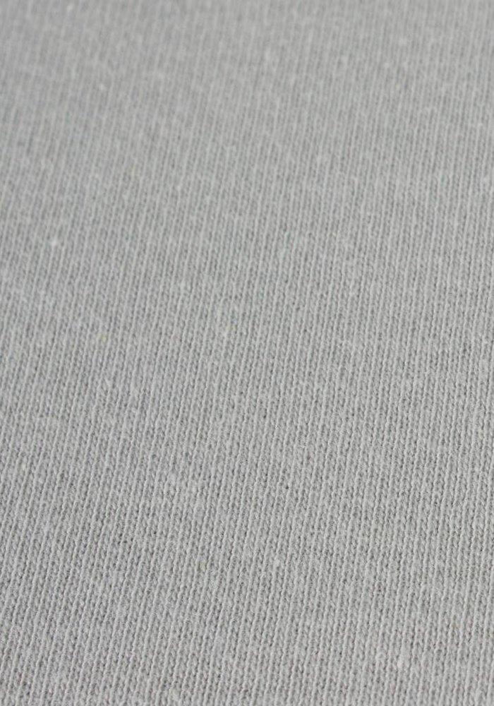 Fitted Sheet Double Jersey Interlock Topper L Grey 17 cm Corner Drop