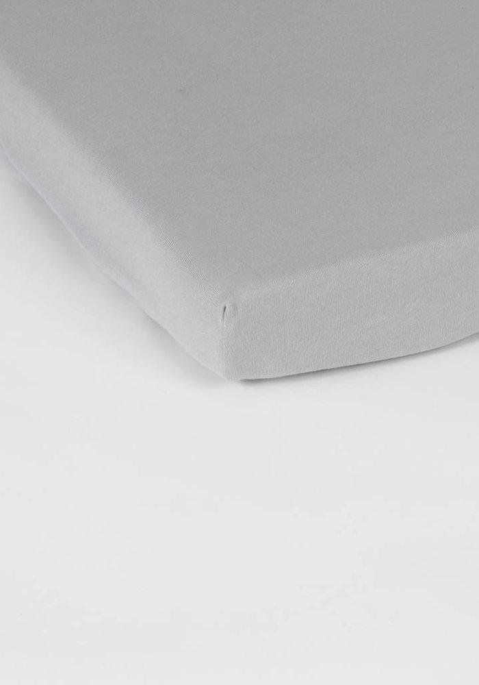Hoeslaken Double Jersey Interlock Topper L Grijs 17 cm Hoekhoogte