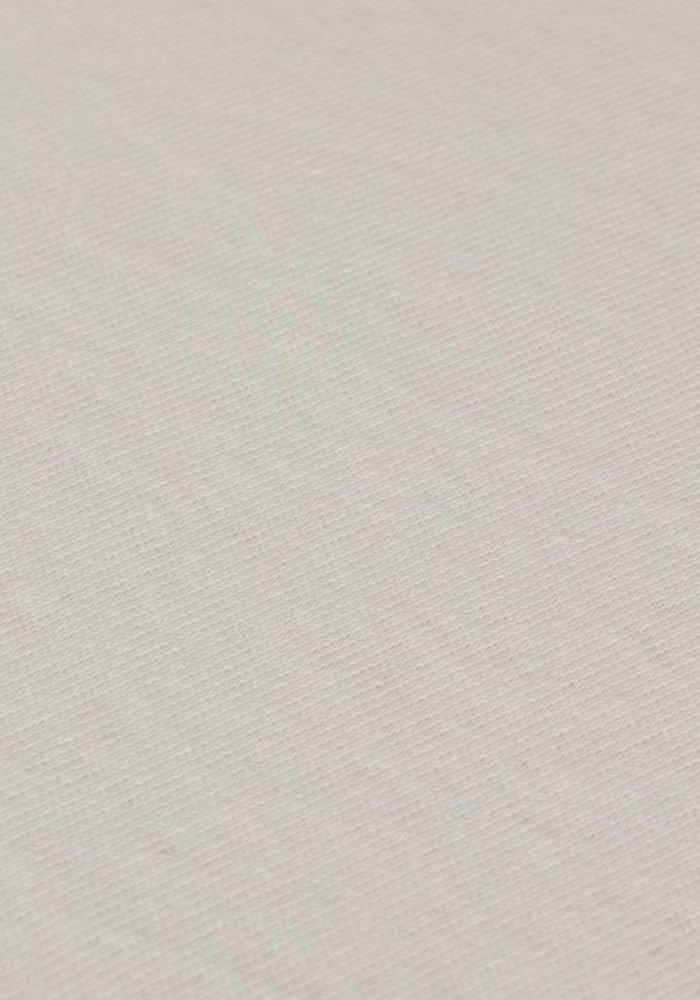 Hoeslaken Double Jersey Interlock Topper Ecru 17 cm Hoekhoogte