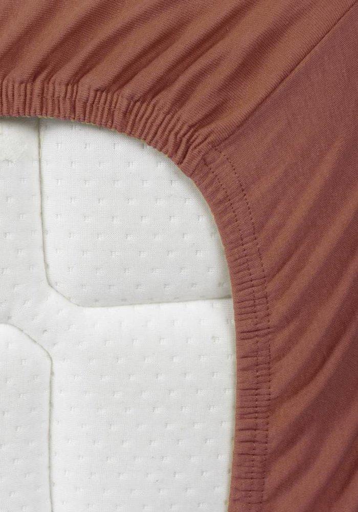 Hoeslaken Double Jersey Interlock Topper Koper 17 cm Hoekhoogte