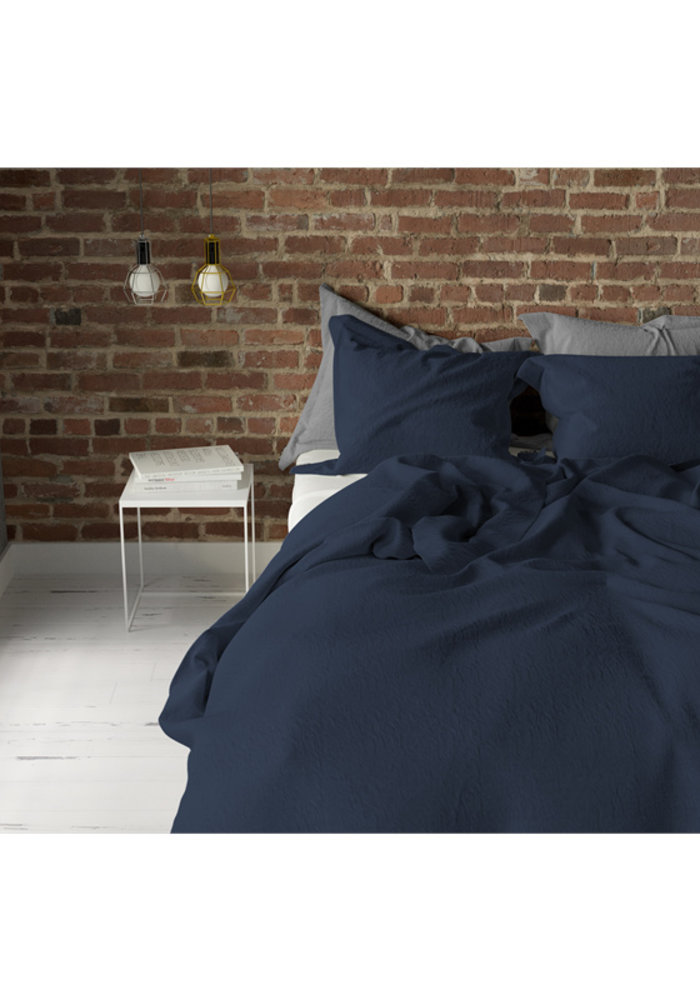 Duvet Cover Pierre Cardin Stone Washed Uni Navy Blauw