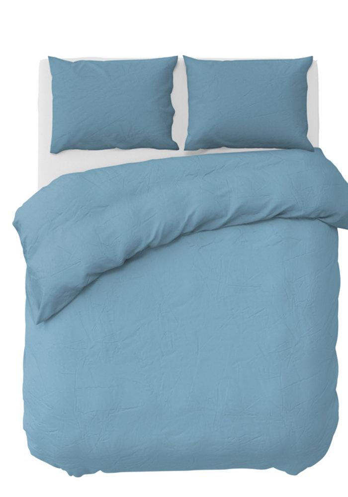 Dekbedovertrek Pierre Cardin Stone Washed Uni Ice Blauw