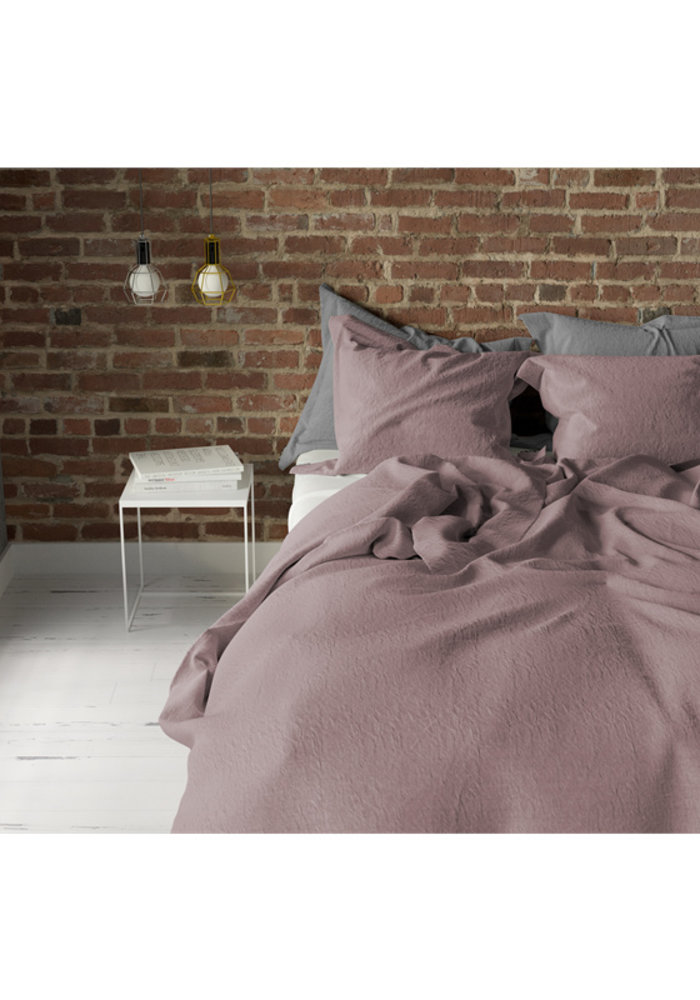 Duvet Cover Pierre Cardin Stone Washed Uni Old Roze