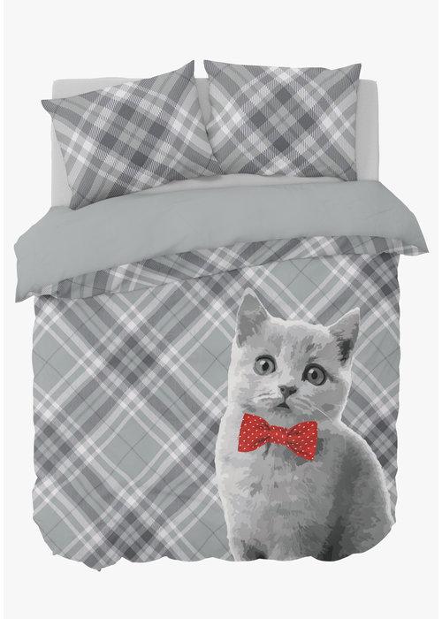 Nightlife Duvet Cover Cat Bowtie