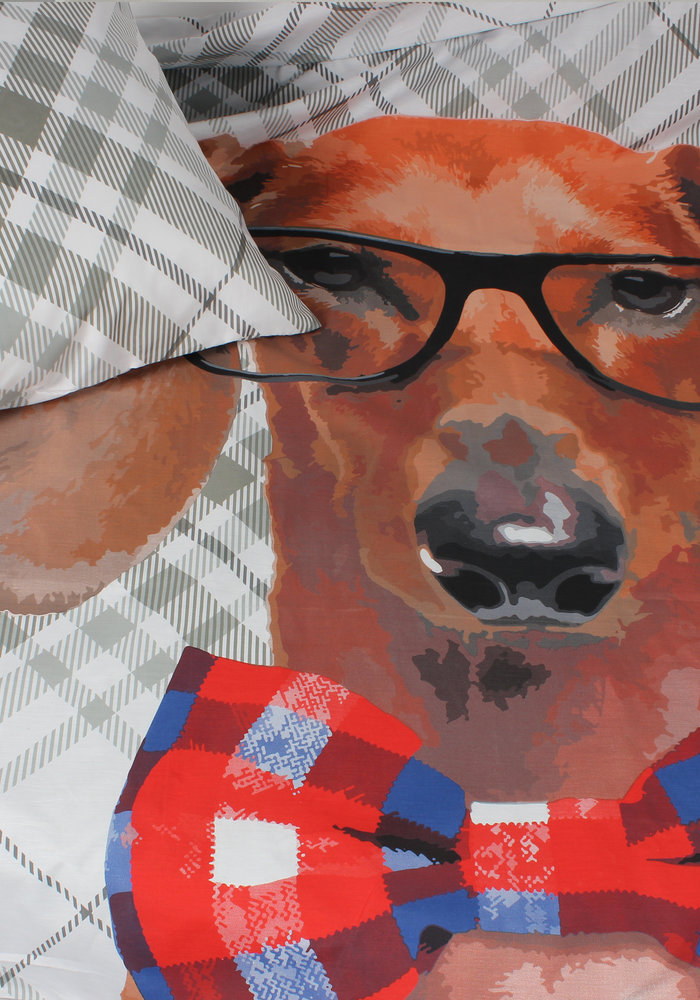 Dekbedovertrek Dog Bowtie