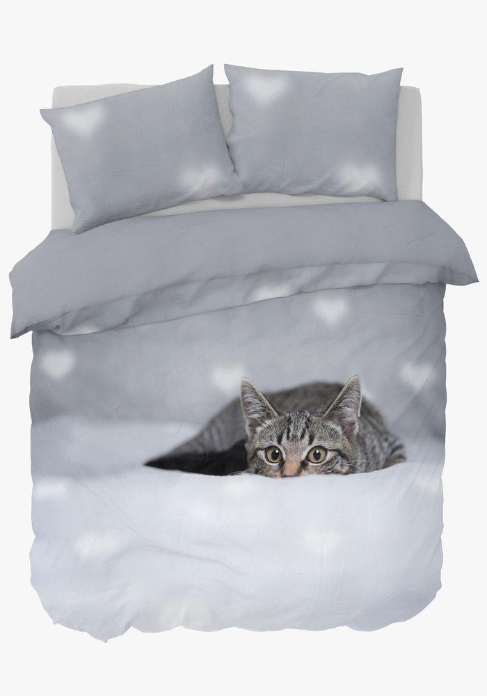 Duvet Cover Peeking Cat