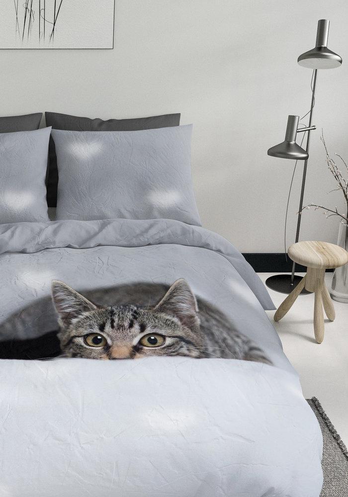 Dekbedovertrek Peeking Cat