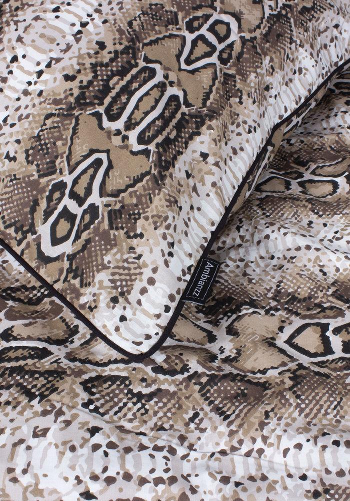Dekbedovertrek Python Skin Naturel