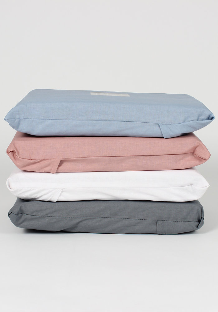 Duvet Cover Cotton Solid Blauw