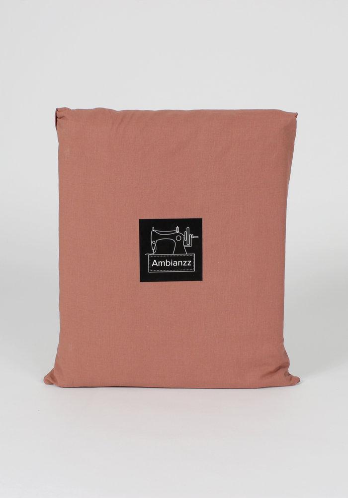 Dekbedovertrek Vintage Washed Cotton Steenrood
