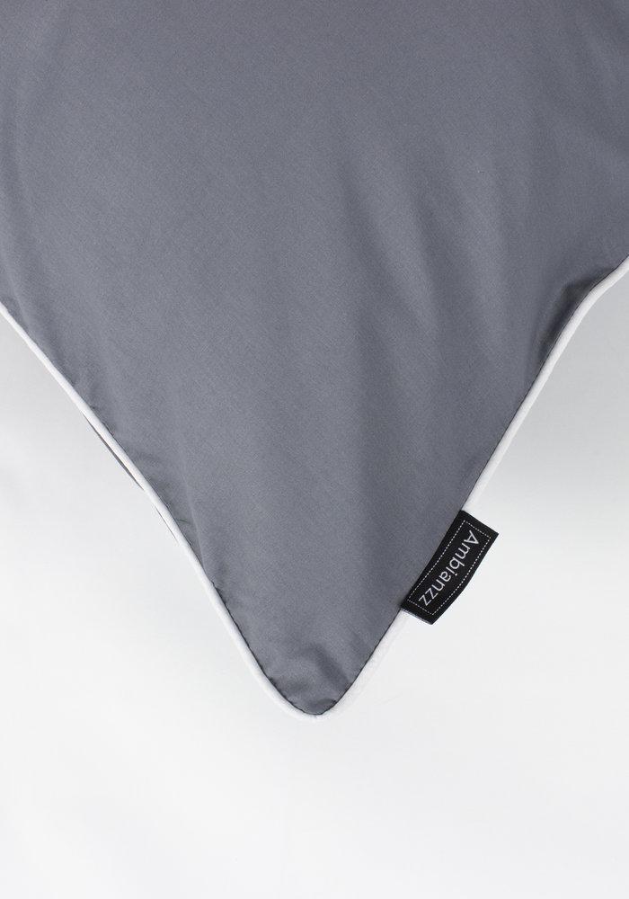 Kussensloop Cotton Solid Antraciet