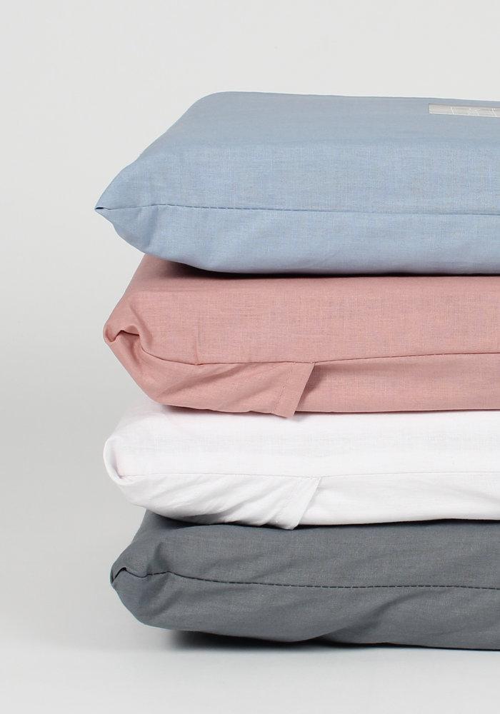 Kussensloop Cotton Solid Roze