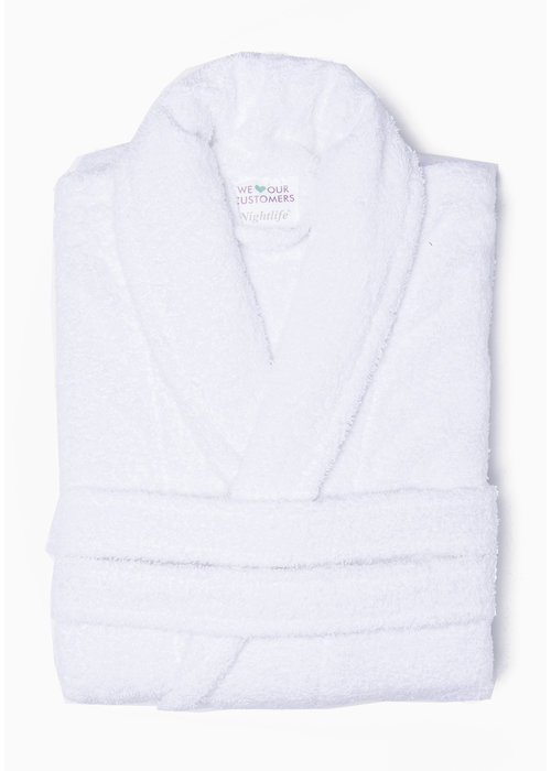 BT COTTON BATHROBE WHITE