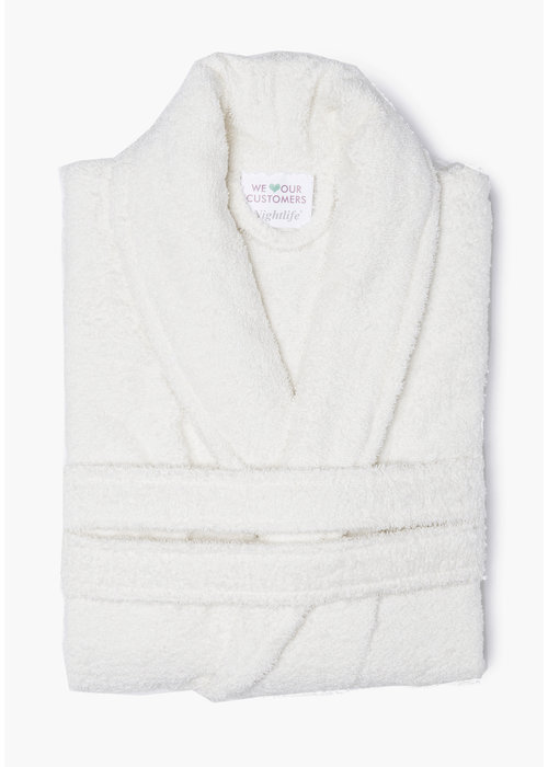 BT COTTON BATHROBE  ECRU