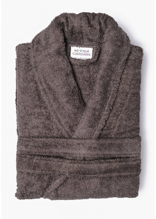 BT COTTON BATHROBE  TAUPE