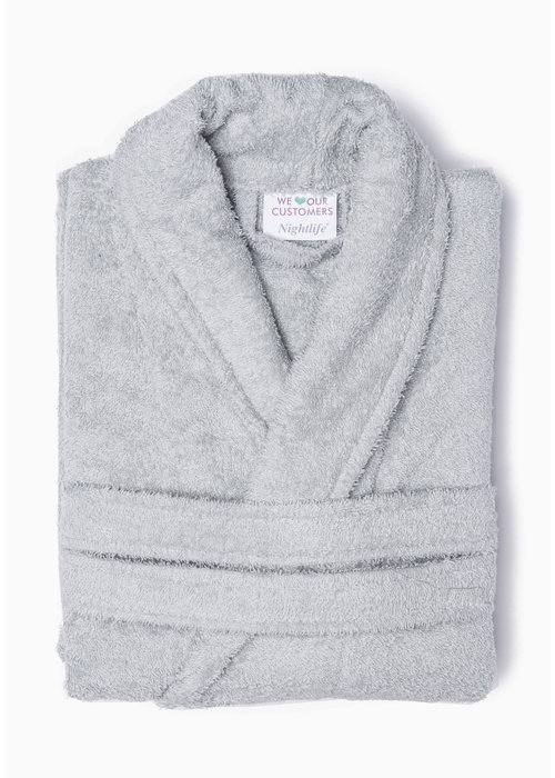 BT COTTON BATHROBE  L GREY