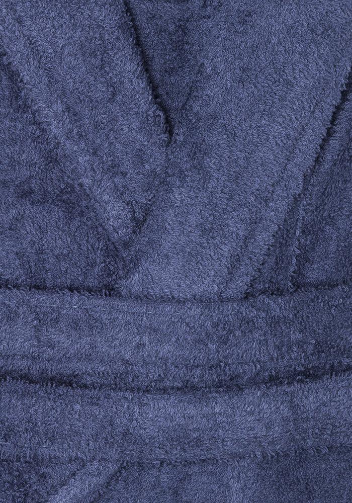 BT COTTON BATHROBE  D BLUE