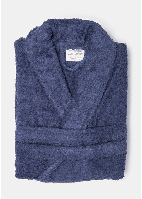 BT COTTON BATHROBE  D BLUE