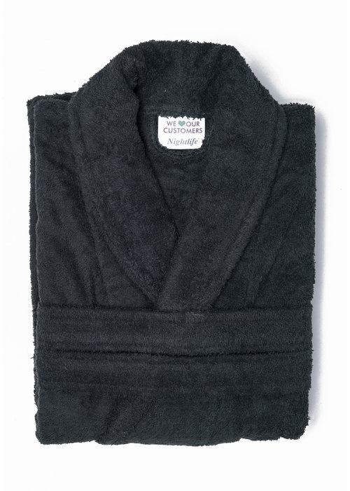 BT COTTON BATHROBE  BLACK