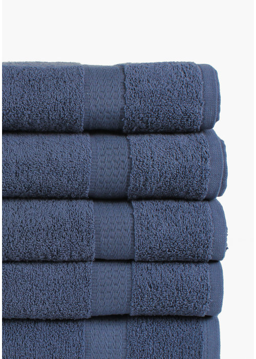 BT COTTON SMALL TOWEL D BLUE 5 PACK