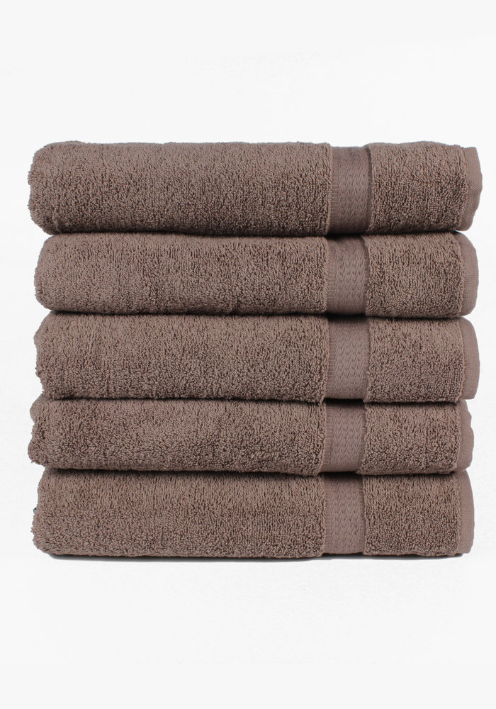 BT COTTON BIG TOWEL TAUPE 5 PACK
