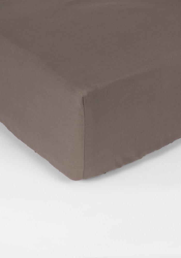 Fitted Sheet Pierre Cardin Mattress Taupe 28 cm Corner Drop
