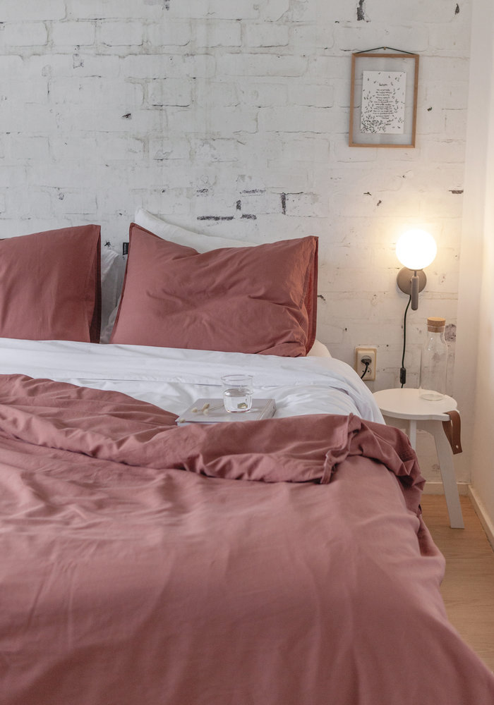 Duvet Cover Vintage Washed Cotton Stone Red