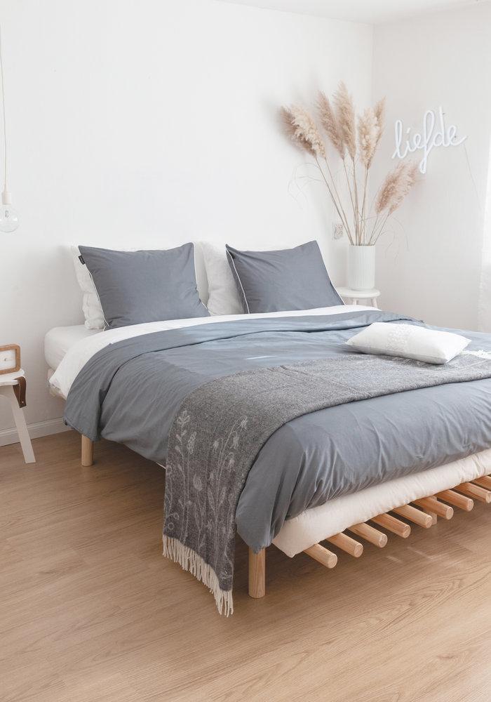 Duvet Cover Cotton Solid Antraciet