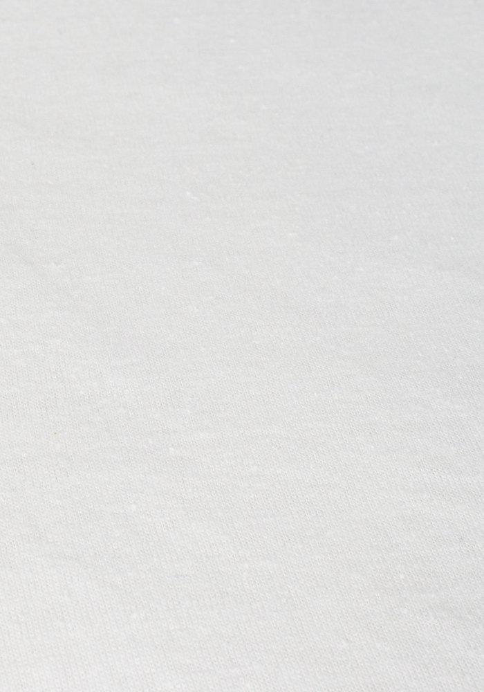 Fitted Sheet Splittopper Jersey White 15 cm Corner Drop