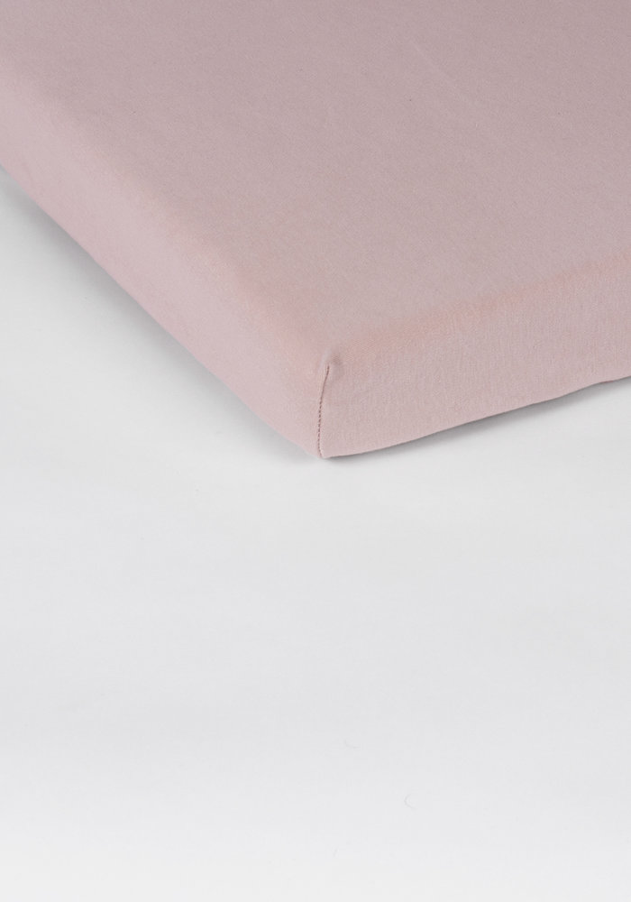 Fitted Sheet Splittopper Jersey Soft Pink 15 cm Corner Drop
