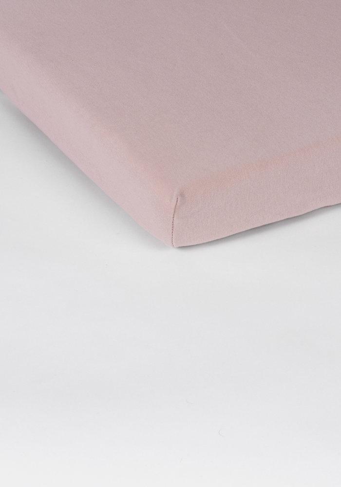 Hoeslaken Splittopper Jersey Zachtroze 15 cm Hoekhoogte