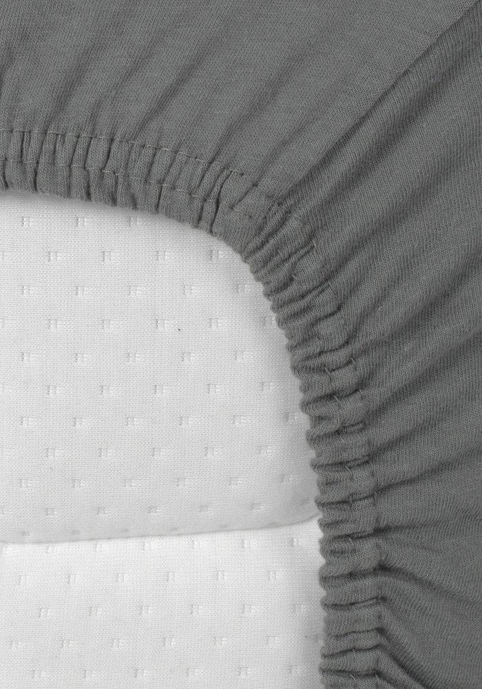 Fitted Sheet Splittopper Jersey Antracite 15 cm Corner Drop