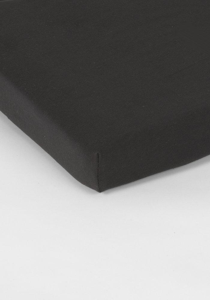 Fitted Sheet Splittopper Jersey Black 15 cm Corner Drop