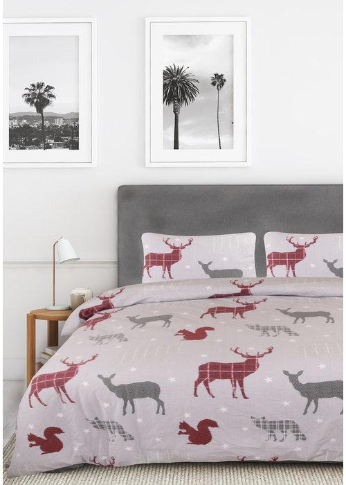 Nightlife Dekbedovertrek Deer and Stars Grijs