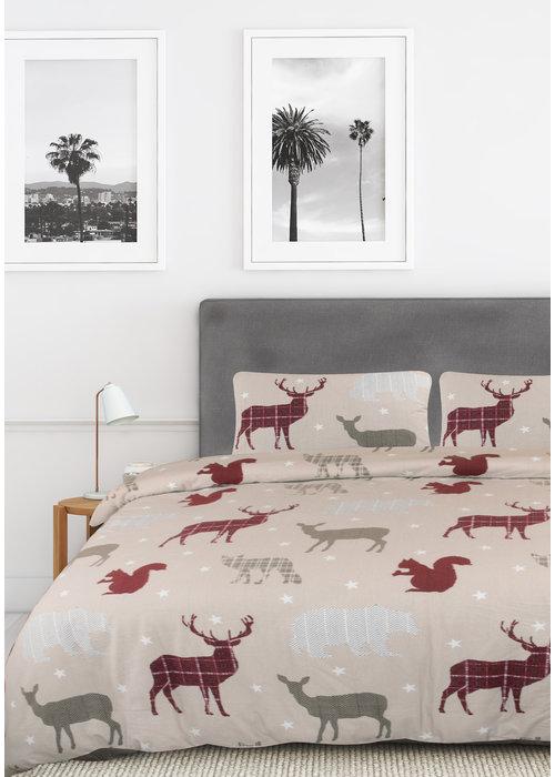 Nightlife Dekbedovertrek Deer and Stars Beige