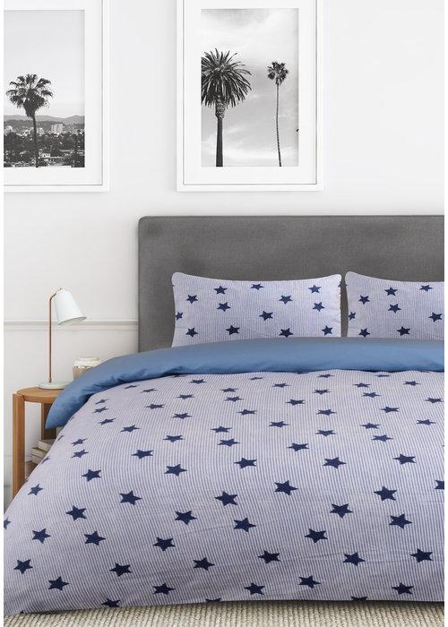Nightlife Dekbedovertrek Star and Stripes Blauw