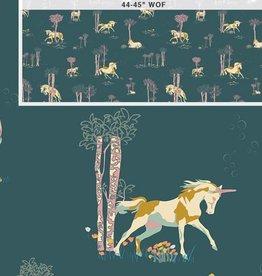 Art Gallery Fabrics AGF Fantasia 'Unicorn Fable Balsamtree'