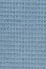 Wafel badstof Nelson blauw/grijs