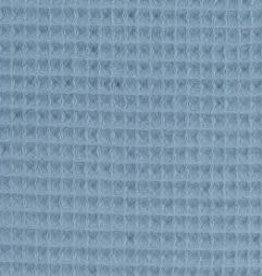 Wafel badstof blauw/grijs Nelson