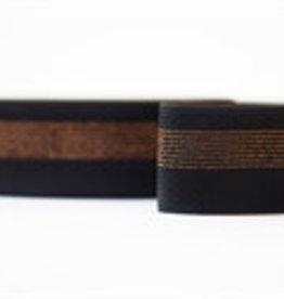 elastische tailleband zwart met glitter