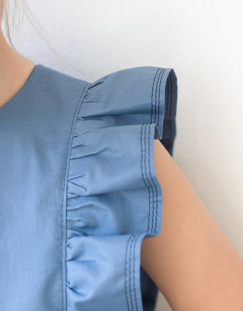 See  You At Six Cotton Lawn Dyna blue