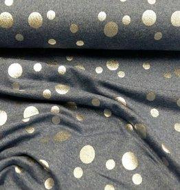 jeanssweater met zilveren bollen