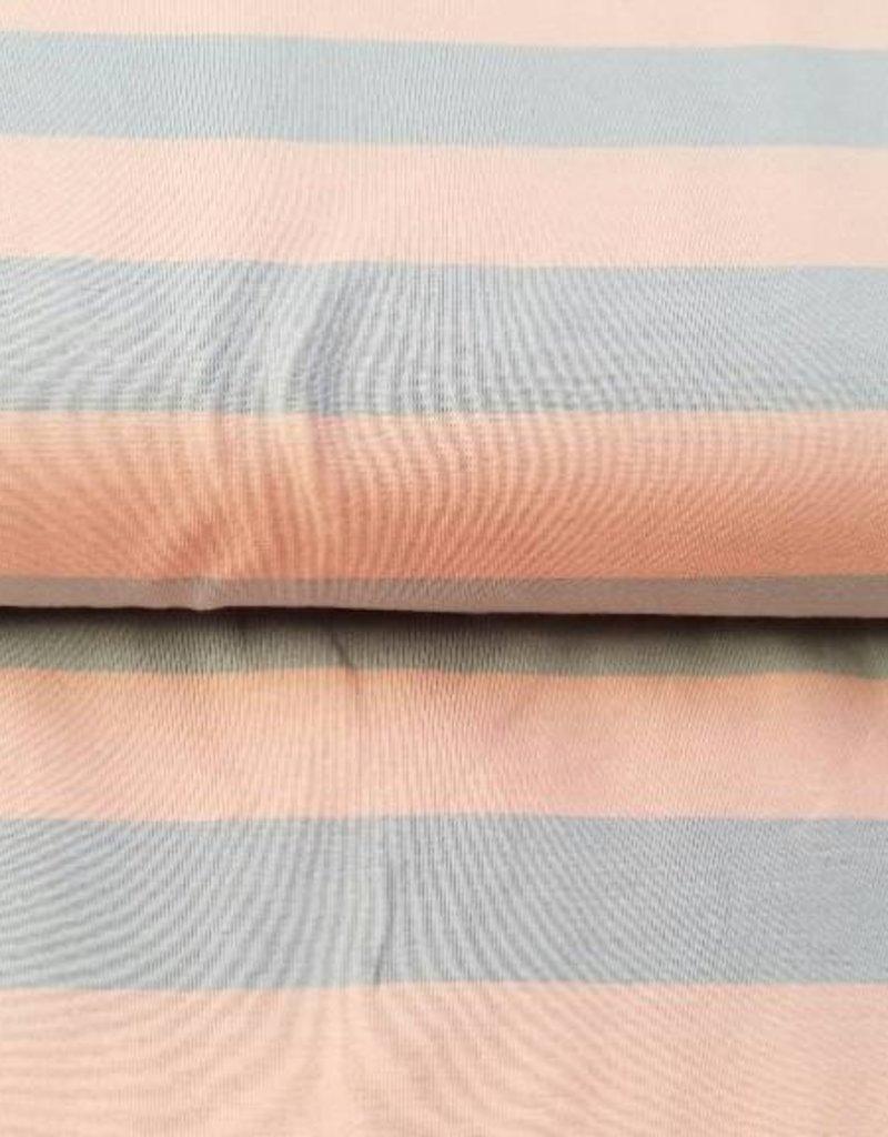 Isa streep roos/grijs 2 cm