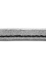 Paspellint metallic zwart/zilver