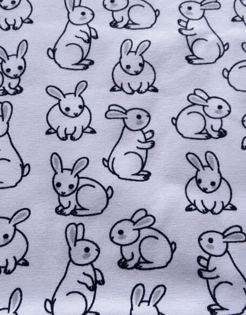 konijntjes op  witte achtergrond