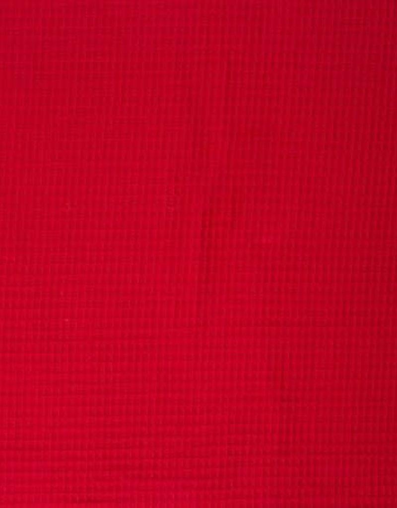 Wafel badstof rood Nelson