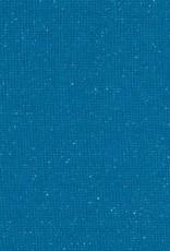 Boordstof Sven glitters Turquoise/blauw