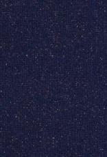 Boordstof Sven glitters Donker blauw/koper